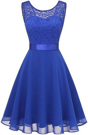 Amazon.com: BeryLove Women's Short Floral Lace Bridesmaid Dress A-line Swing Party Dress: Clothing