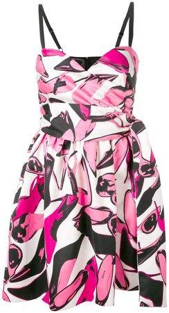 geometric flared dress