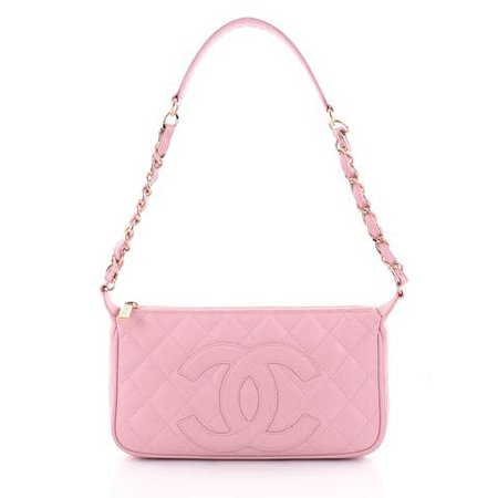 Chanel Timeless CC Chain Shoulder Bag Quilted Caviar Small