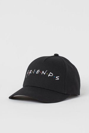 Embroidered-detail Cap - Black