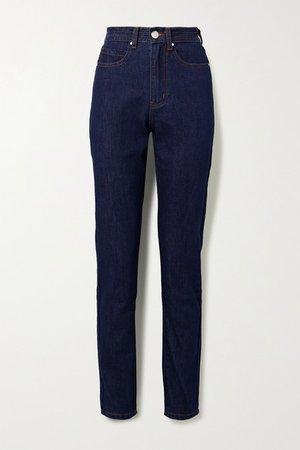 L.F.Markey | Johnny high-rise straight-leg jeans | NET-A-PORTER.COM