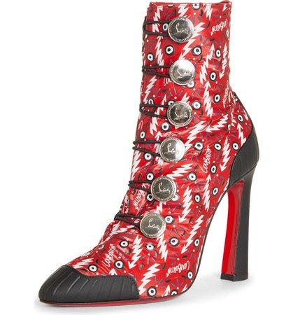 Christian Louboutin Doudoune Ginzana Loubi Pointed Toe Bootie (Women) | Nordstrom