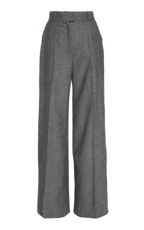 Martin Grant Wool Wide-Leg Pants