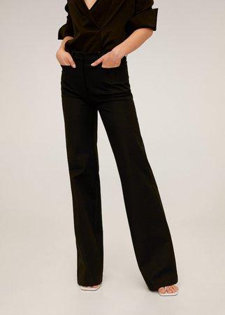Flared cotton trousers - Women | Mango USA