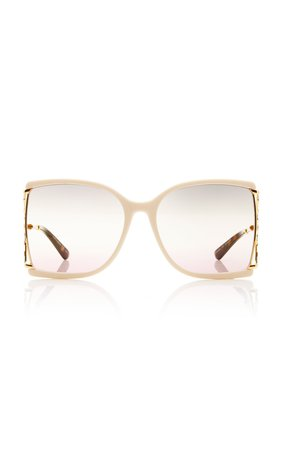 Gradient Square-Frame Metal Sunglasses by Gucci | Moda Operandi