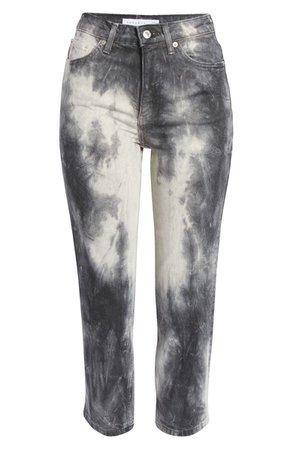 Topshop Tie Dye Straight Leg Jeans   Nordstrom