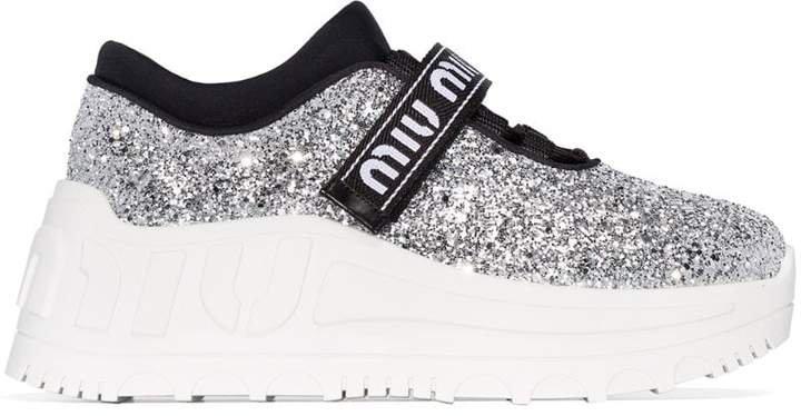 glitter flatform sneakers