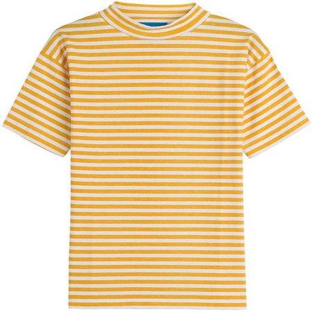 striped yellow t-shirt
