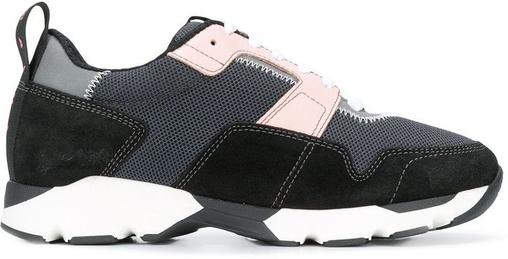 Techno Fabric Low-Top Sneakers