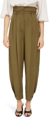 Pleated High Waist Pants