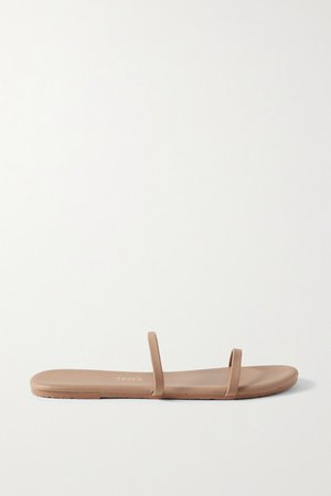 Gemma Vegan Matte-leather Sandals - Light brown