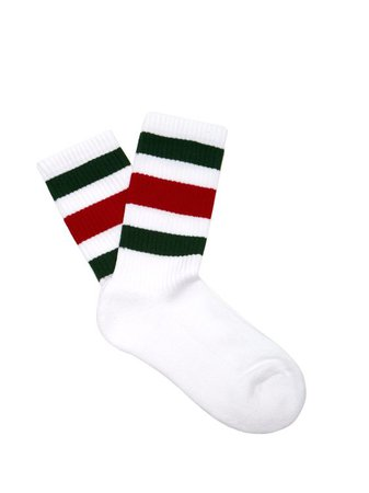 GUCCI  Web-striped cotton-blend socks