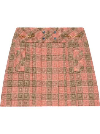 Shop Gucci Optical check-pattern mini skirt with Express Delivery - FARFETCH