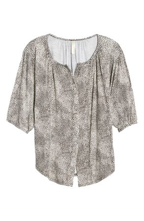 Loveappella Button Front Blouse | Nordstrom