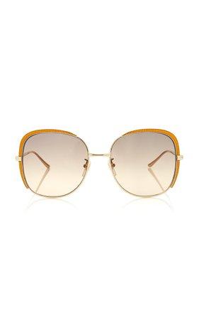 Gucci Sunglasses Guillochet Squared Sunglasses