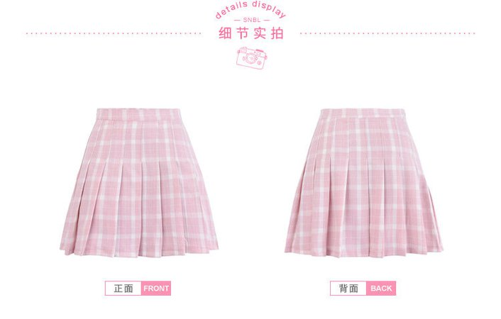 Moriville - Plaid Mini A-Line Skirt