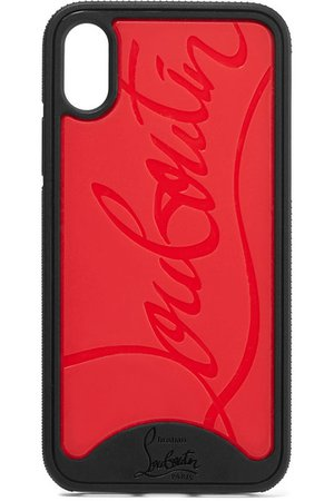Christian Louboutin | Loubiphone embossed PVC iPhone XS Max case | NET-A-PORTER.COM
