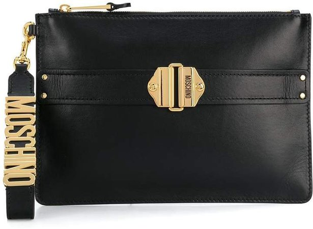 buckle-embellished clutch