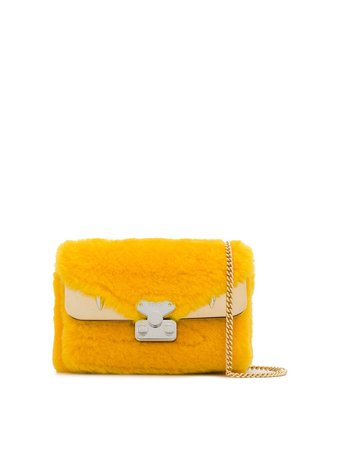 Fendi Bag Bugs lamb-fur Shoulder Bag - Farfetch