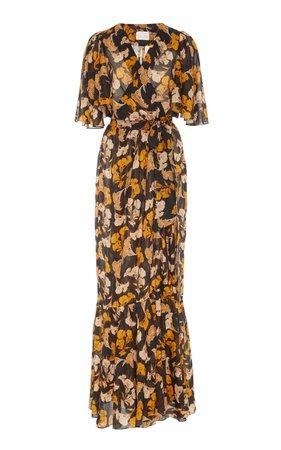 Johanna Ortiz Gypset Life Short Sleeve Maxi Dress Size: L