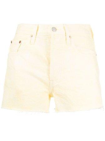 Levi's frayed-edge denim shorts