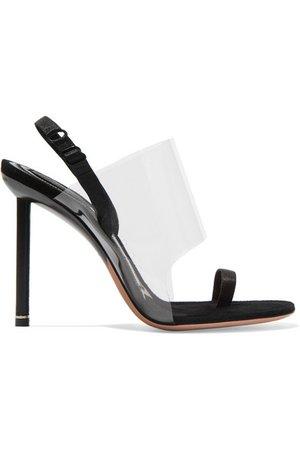 Alexander Wang   Kaia PVC and suede slingback sandals   NET-A-PORTER.COM
