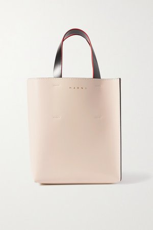 Museo Mini Color-block Leather Tote - Pink