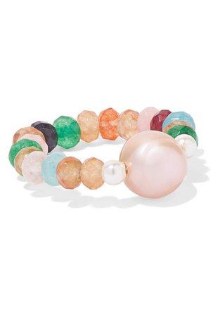Anissa Kermiche | Coleur Caviar pearl and agate ring | NET-A-PORTER.COM