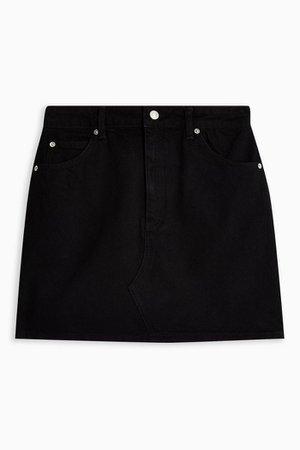 Black High Waisted Denim Skirt | Topshop