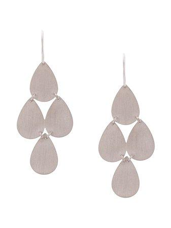 Irene Neuwirth 18Kt White Gold Four Drop Chandelier Earrings E114WG | Farfetch