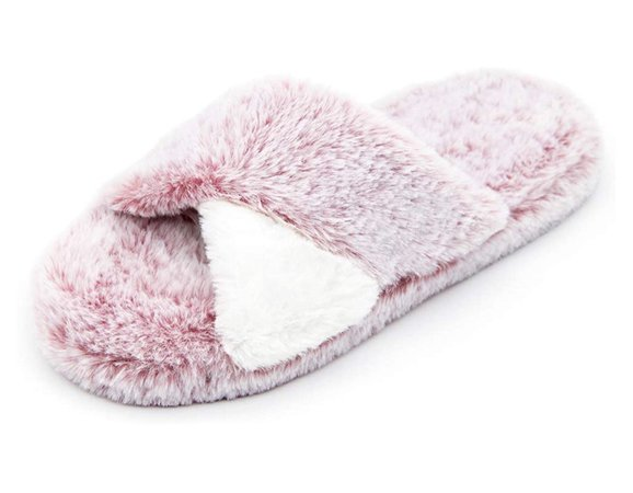 Amazon Pink Fuzzy Slippers