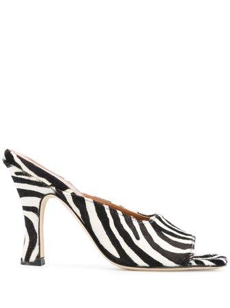 Paris Texas Zebra Pattern High Heel Mules Ss20 | Farfetch.com