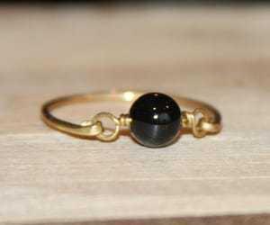 Black Onyx Ring Black Gemstone Ring Black Silver Ring Black