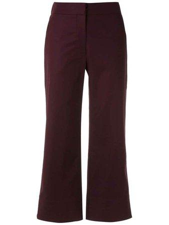 cropped wide-leg pants