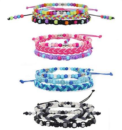 Amazon.com: 12 VSCO Bracelets for Teen Girls, Kids Friendship Bracelets for Girls, Party Favors for Teens Girls, Cute VSCO Girl Stuff, VISCO Braided Stretch Friendship Bracelet Pack, Bead Woven String Bracelets: Clothing