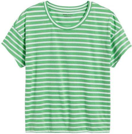 SUPIMA Cotton Boxy Cropped T-Shirt