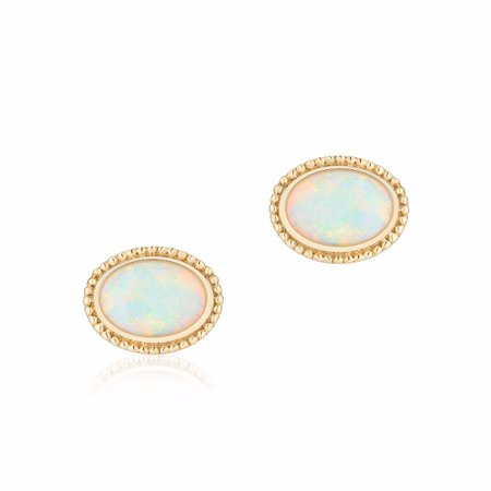 Plaisirs de Birks Yellow Gold and Opal Earrings | Birks