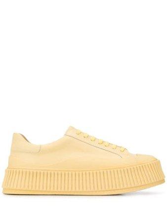 Jil Sander Platform Sole Low-Top Sneakers JS32108A11103 Yellow | Farfetch