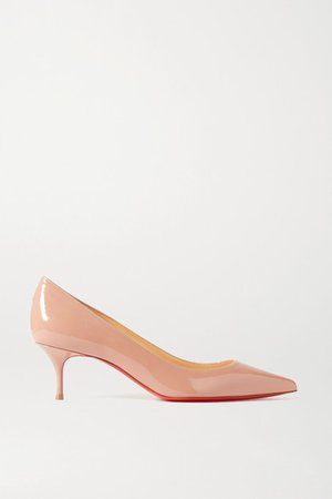 Kate 55 Patent-leather Pumps - Beige