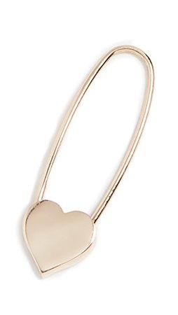 Loren Stewart Heart Safety Pin Earring | SHOPBOP