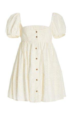 Diana Button-Detailed Cotton Mini Dress By Ciao Lucia   Moda Operandi