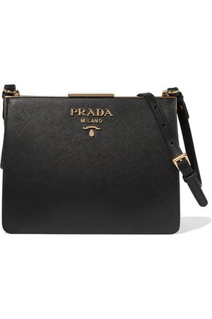 PRADA Frame textured-leather shoulder bag