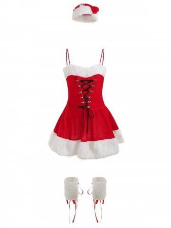 Christmas Cosplay Costume Set Santa Claus Dress
