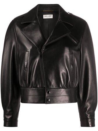 Saint Laurent leather biker jacket - FARFETCH