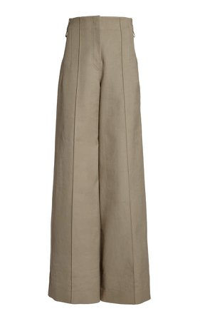 Peter Do High-Rise Pleated Pants