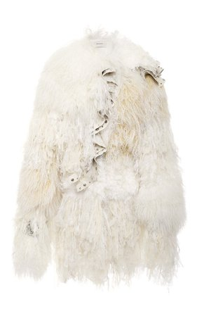 Shearling And Chiffon Coat by Rodarte | Moda Operandi