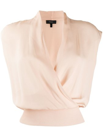 Theory Sleeveless Draped Top - Farfetch