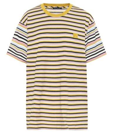 Striped Cotton T-Shirt - Acne Studios | Mytheresa