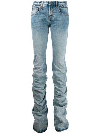 R13 Ruched Straight-Leg Jeans | Farfetch.com