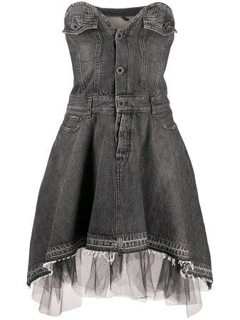 UNRAVEL PROJECT sweetheart-neckline Denim Dress - Farfetch